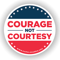 courage not courtesy sticker