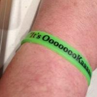 free it's okay wristband